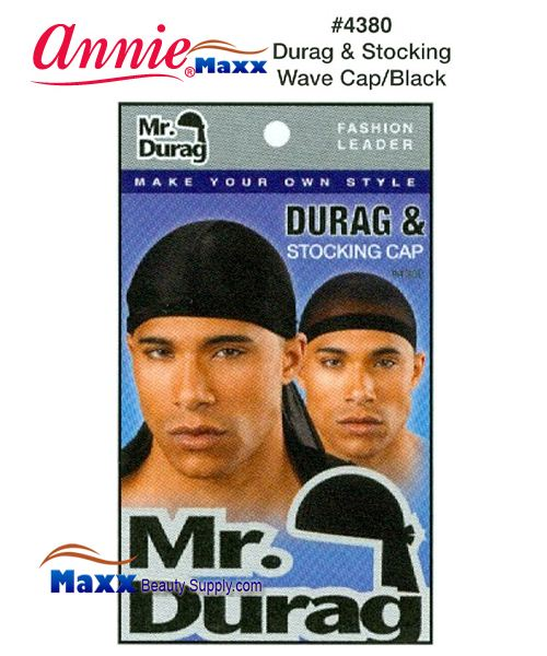 Annie Mr Durag Amp Stocking Wave Cap 4380 Black 1 49