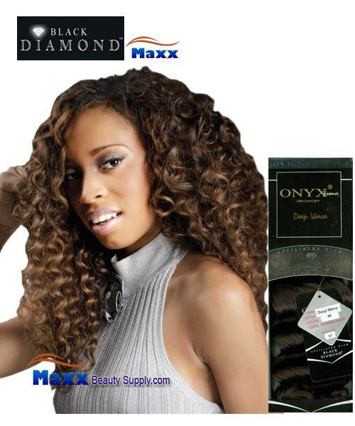 Black Diamond Onyx Essence Human Hair Weave Deep Wave 10