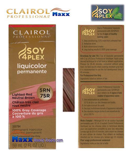 Clairol Soy 4plex Liquicolor 5rn 75r Lightest Red