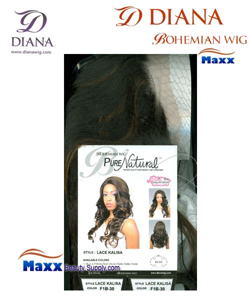 Diana Bohemian Pure Natural Lace Front Wig Syntetic Hair