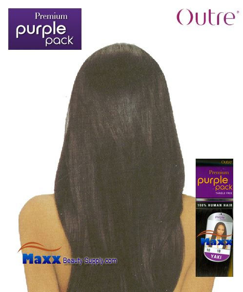 "Outre Premium Purple Pack Human Hair Yaki Weave - 10"" ~14"""
