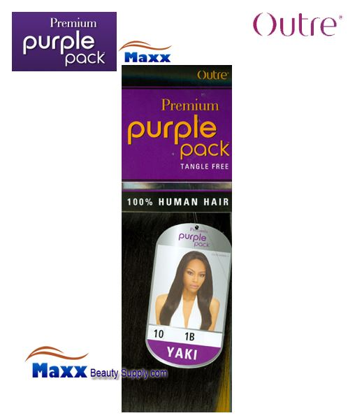 "Outre Premium Purple Pack Human Hair Yaki Weave - 10"" ~14\"""